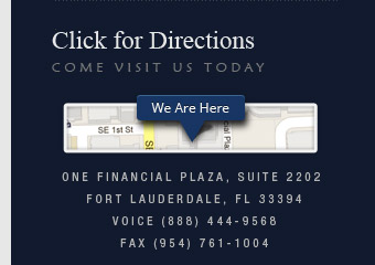 One Financial Plaza, Suite 2202 Fort Lauderdale, FL 33394
